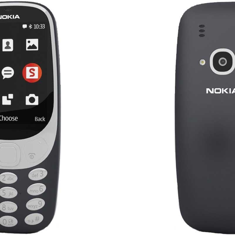 Sidste nye NOKIA 3310 RETRO DUAL-SIM (Dark Blue) uden abonnement, gratis WQ-73