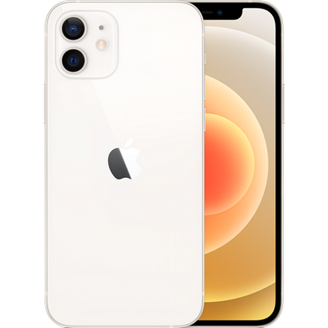Apple iPhone 12 5G (256GB/White) uden abonnement, gratis levering til pakkeshop