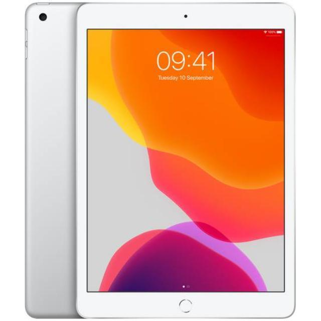 Apple iPad 10,2 2019 - 7. generation Wi-Wi (32GB/Silver) uden abonnement, gratis levering til pakkeshop