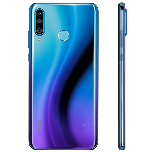 Huawei P30 Lite New Edition Dual Sim 6GB (256GB/Peacock Blue) uden abonnement