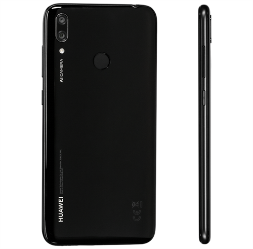 Huawei Y7 2019 Dual Sim (32GB/Midnight Black) uden abonnement, gratis levering til pakkeshop