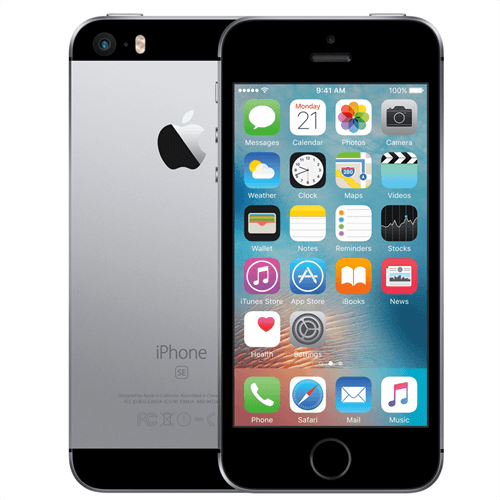 Apple iPhone SE  (128GB/ Space Gray) uden abonnement, gratis levering til pakkeshop
