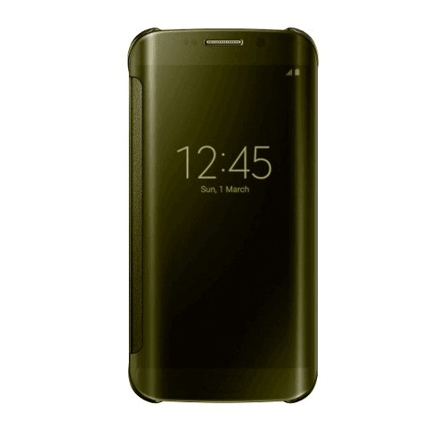 Samsung Galaxy S6  Clear view Cover Gold