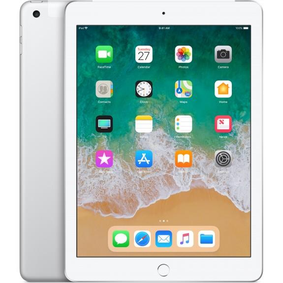 Apple iPad 9.7 (2018) 32 GB 4G Silver uden abonnement, gratis levering til pakkeshop