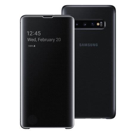 SAMSUNG CLEAR VIEW  COVER S10 plus BLACK