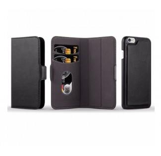 iPhone X Flip cover i sort fashion leather look(Black) uden abonnement, gratis levering til pakkeshop