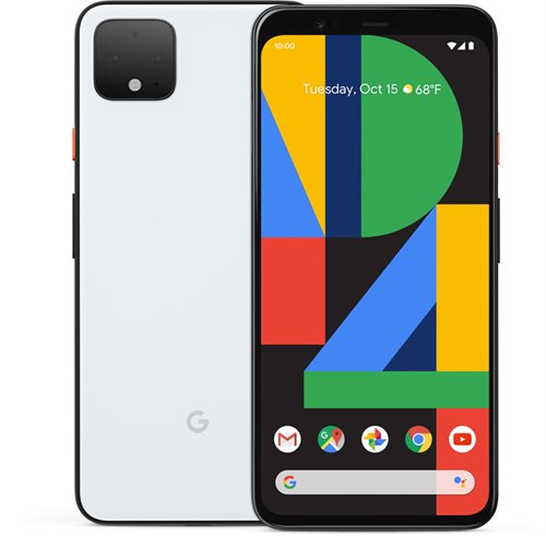 Google Pixel 4 (64GB/Clearly White) uden abonnement, gratis levering til pakkeshop