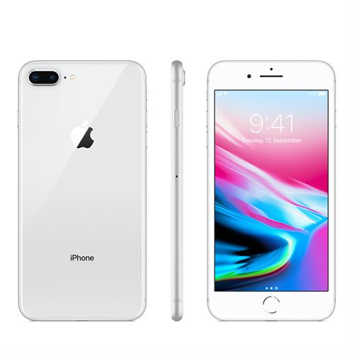 Apple iPhone 8 Plus (256GB/Silver) uden abonnement, gratis levering til pakkeshop