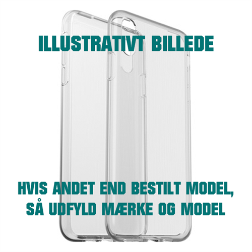Bagside Cover Mobiltelefon (Transparent)