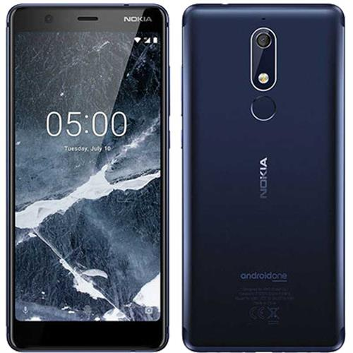 NOKIA 5.1 DUAL-SIM (32GB/Tempered Blue)  uden abonnement, gratis levering til pakkeshop