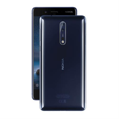 Nokia 8 (Polished Blue/64GB) uden abonnement, gratis levering til pakkeshop