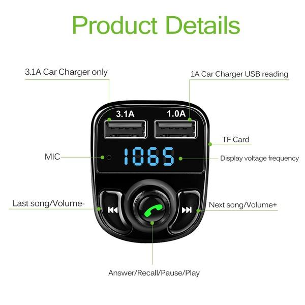 ONEVER HY82 Car Kit Bluetooth  uden abonnement, gratis levering til pakkeshop