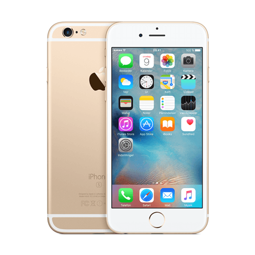 Apple IPhone 6s 16GB (Gold) uden abonnement, gratis levering til pakkeshop