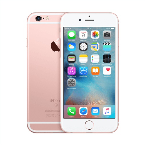 Apple IPhone 6s 32GB (Rose Gold) uden abonnement, gratis levering til pakkeshop