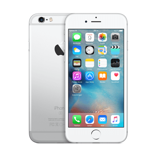 Apple IPhone 6s 32GB (Silver) uden abonnement, gratis levering til pakkeshop
