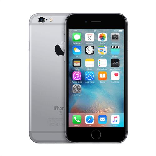 Apple IPhone 6s 128GB (Space Gray) uden abonnement, gratis levering til pakkeshop